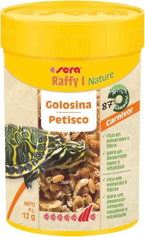 SERA Raffy I Nature 100ml (87% gammarus, prqueños peces y krill deshidratados)