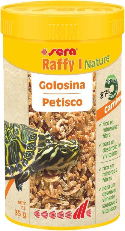 SERA Raffy I Nature 250ml (87% gammarus, prqueños peces y krill deshidratados)