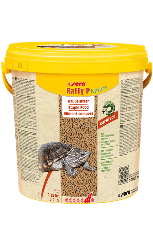 SERA Raffy P Nature 10L (alimento base equilibrado tortugas acuáticas)
