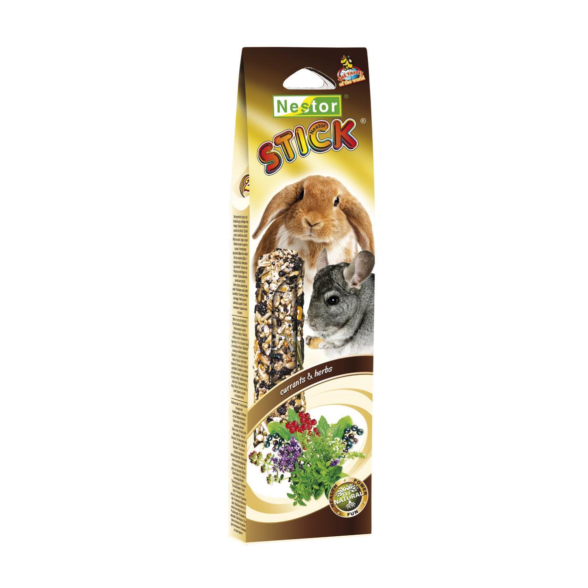 NESTOR Stick clásico plus con grosellas y hierbas Conejos y Roedores 115g - 2 unid.