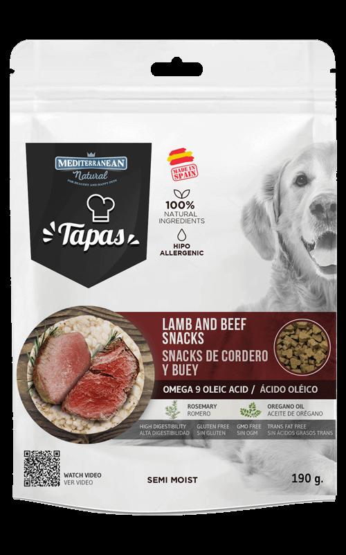 MEDITERRANEAN Tapas Cordero y Buey 190g Snack para Perros