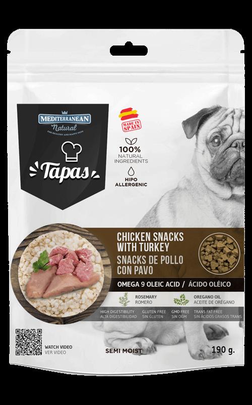 MEDITERRANEAN Tapas Pollo con Pavo 190g Snack para Perros