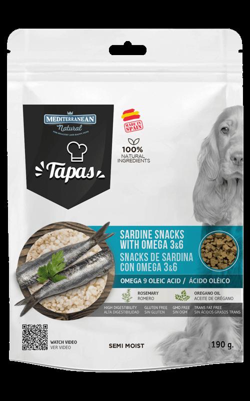 MEDITERRANEAN Tapas Sardina 190g Snack para Perros