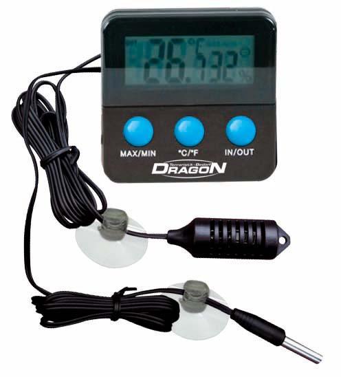 Termómetro-Higrómetro digital con sensor resistente al agua