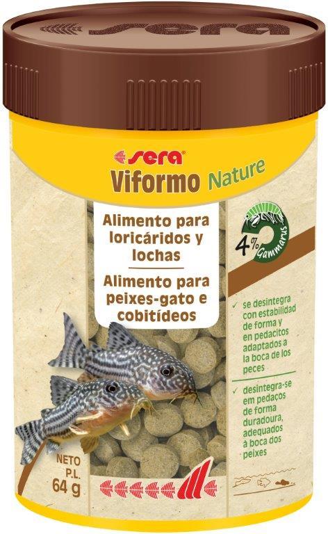 SERA Viformo Nature 100ml alimento peces de fondo removedores)