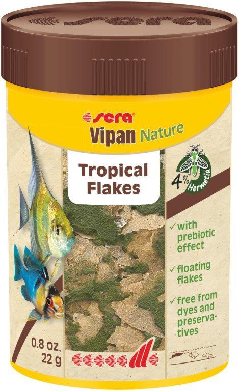 SERA Vipan Nature 100ml alimento principal, en escamas)