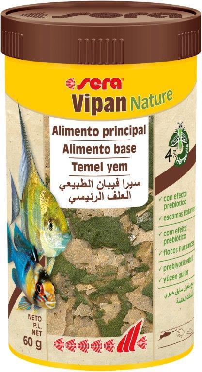 SERA Vipan Nature 250ml ( alimento principal, en escamas)