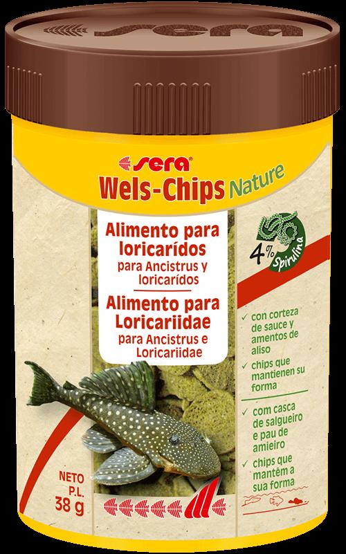 SERA Wels-Chips Nature 250ml (alimento peces de fondos raspadores y succionadores)
