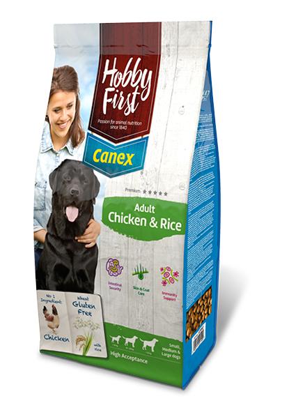 HobbyFirst Canex Adult Pollo y Arroz 3 kg Pienso para Perros