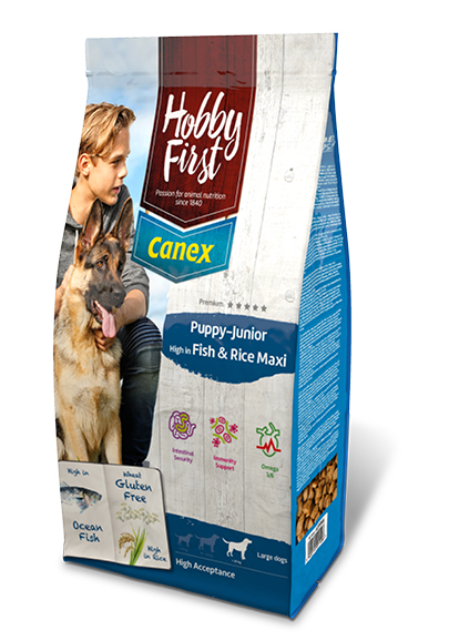 HobbyFirst Canex Puppy-Junior High in Fish & Rice Maxi 12 kg